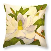 Magnolia Cluster Throw Pillow
