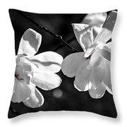 Magnolia Flowers Throw Pillow by Elena Elisseeva