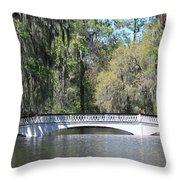 Charleston Sc Magnolia Gardens  Throw Pillow by Ella Char