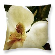 Magnolia I Throw Pillow by Tanya Jacobson-Smith