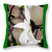 Magnolia In Profile Throw Pillow