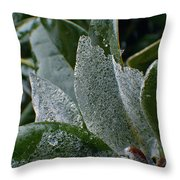 Magnolia  Leaves Throw Pillow