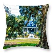 Magnolia Mansion Throw Pillow
