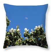 Magnolia Moon Throw Pillow