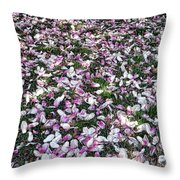Magnolia Petals Throw Pillow