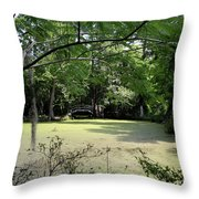 Magnolia Plantation Bridge Throw Pillow