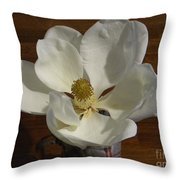 Magnolia Still 1 Throw Pillow