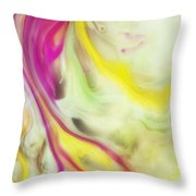 Magnolia Watercolor Abstraction Painting Throw Pillow
