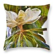Magnolia White Throw Pillow