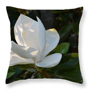 Magnolia With Best Bud Throw Pillow