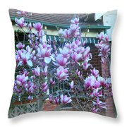 Magnolias At Home Throw Pillow