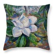 Magnolia's Flower Throw Pillow