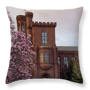 Magnolias Near The Castle Throw Pillow