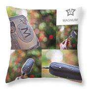 Magnum  Throw Pillow