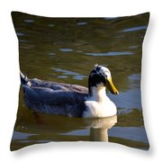 Magpie Duck Throw Pillow