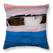 Magpie Original Painting Throw Pillow
