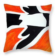 Magpie Original Painting Sold Throw Pillow