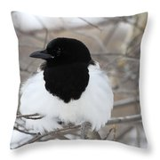 Magpie Profile Throw Pillow