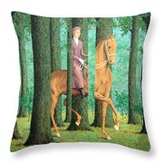 Magritte's The Blank Signature Throw Pillow