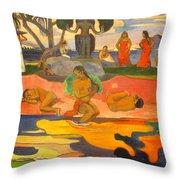 Mahana No Atua Aka. Day Of The Gods Throw Pillow