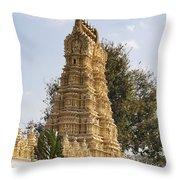 Maharaja's Palace India Mysore Throw Pillow