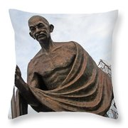 Mahatma Gandhi In Washington Throw Pillow
