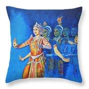 Mahishaasura Mardini Throw Pillow
