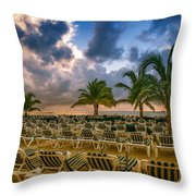 Mahogany Bay Beach-roatan-honduras Throw Pillow