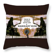 Mahogany Rush Art Throw Pillow