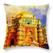 Mai Jwandi Tomb On Makli Hill Throw Pillow by Catf