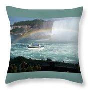 Maid Of The Mist -41 Throw Pillow