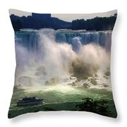 Maid Of The Mist Throw Pillow