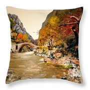 Maidens Bridge - Ura E Vashes Throw Pillow