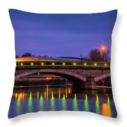 Maidstone Bridge Throw Pillow