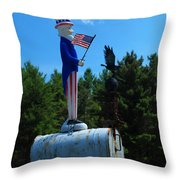 Mail For Uncle Sam Throw Pillow