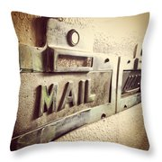 Mail Lost In Time Throw Pillow