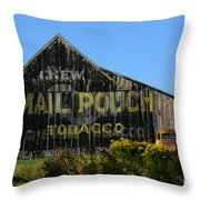 Mail Pouch Barn Throw Pillow