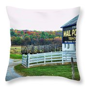 Mail Pouch Tobacco Barn In The Fall Throw Pillow