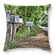 Mail Route Throw Pillow