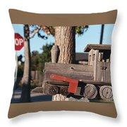 Mail Stop Throw Pillow