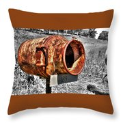 Mailbox With Character Throw Pillow