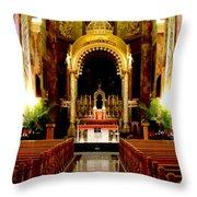 Main Altar Of Basilica Throw Pillow