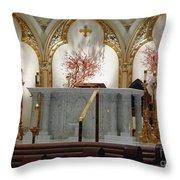 Main Altar Saint Jospehs Cathedral Buffalo New York Throw Pillow