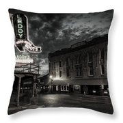 Main And Exchange Bw Throw Pillow