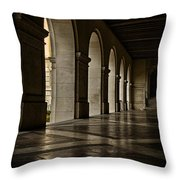 Main Building Arches University Of Texas Throw Pillow