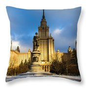 Main Building Of Moscow State University On Sparrow Hills - 2 - Featured 3 Throw Pillow