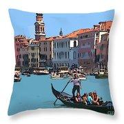 Main Canal Venice Italy Throw Pillow
