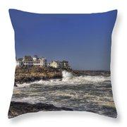 Main Coastline Throw Pillow by Joann Vitali