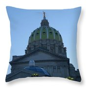 Main Dome Of The State Capital Throw Pillow