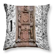 Main Door Huntly Castle - 7 Throw Pillow